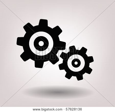 black gearwheel mechanism