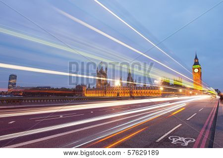 Traffic through London