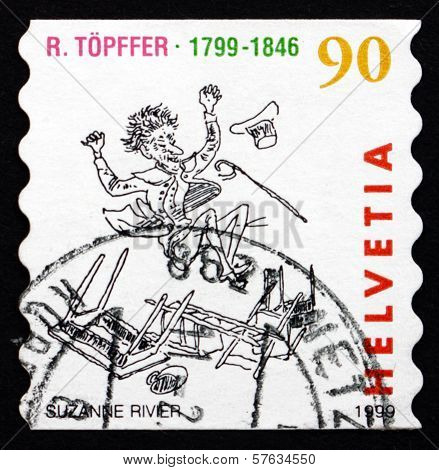 Postage Stamp Switzerland 1999 Comic Book, By Rodolphe Topffer
