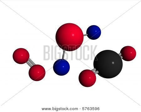Molecules - Water, Oxygen, Carb