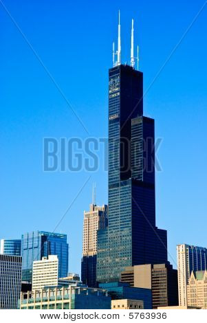 Sears Tower And Chicago