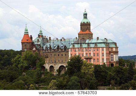 Castle Ksiaz in Walbrzych, in Poland.