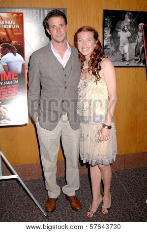 Noah Wyle and Tanna Frederick at the Los Angeles Premiere of 'Irene In Time'. Directors Guild of America, Los Angeles, CA. 06-11-09