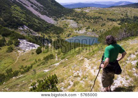 Satorsko lake - in the western regions of Bosnia and Herzegovina at 1488 meters a.s.l. below poster