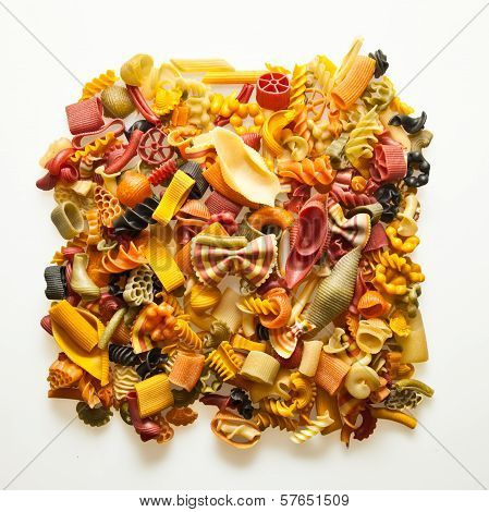 Colorful pasta mix