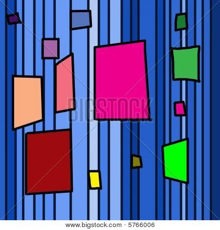 coloured tetragon