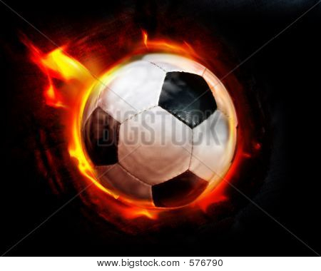Soccer Ball Through Flames