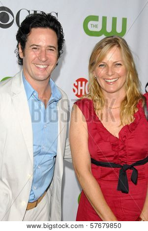 Rob Morrow and Debbon Ayer  at the CBS, CW and Showtime All-Star Party. Huntington Library, Pasadena, CA. 08-03-09