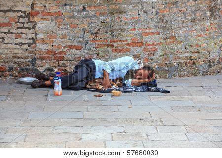 Homeless Sleeping In The Street