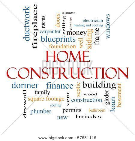 Home Construction Word Cloud Concept