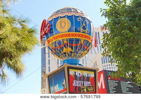 Montgolfier Balloon Near Paris Hotel In Las Vegas