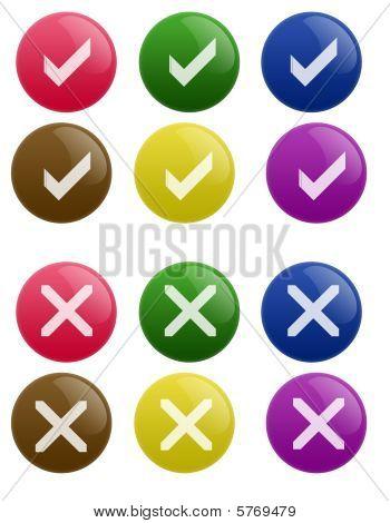 Glossy True False Button
