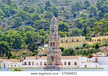 Panormitis Monastery, Symi Island, Greece--is The Most Important Place Of Pilgrimage For The Whole O