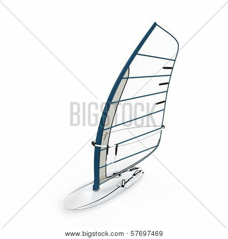 Sailboard Isolated