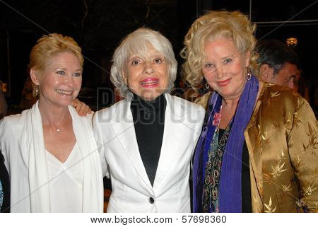 Dee Wallace Stone with Carol Channing and Sally Kirkland  at the Los Angeles Premiere of 'Gotta Dance'. Linwood Dunn Theatre, Hollywood, CA. 08-13-09