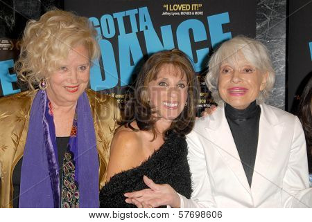 Sally Kirkland with Kate Linder and Carol Channing at the Los Angeles Premiere of 'Gotta Dance'. Linwood Dunn Theatre, Hollywood, CA. 08-13-09