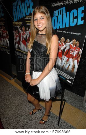 Michaela Carrozzo at the Los Angeles Premiere of 'Gotta Dance'. Linwood Dunn Theatre, Hollywood, CA. 08-13-09