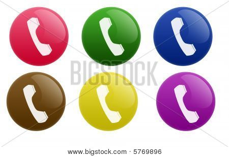 Glossy Telephone Button