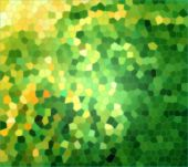 Green yellow mosaic background. Small pieces. interesting decoration. poster