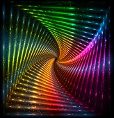 Shining lights rainbow colors vector neon frame poster