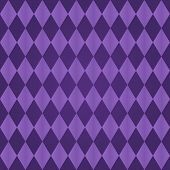 Seamless harlequin or argyle pattern made of two tones of purple poster