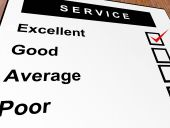 Excellent good average and poor qualification. Service illustration poster