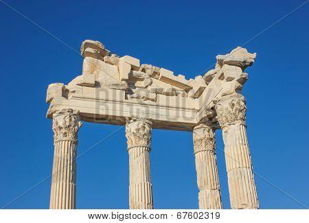 Temple Of Trajan In Bergama Acropolis