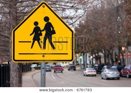 School Crosswalk Sign