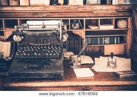 Old Desk Vintage Typewriter