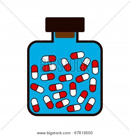 Bottle With A Medicine Tablets