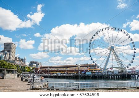 Waterfront Pier 57 Seattle Washington
