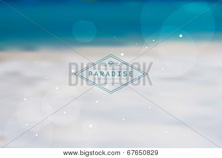 Vector blurred background. Creative graphic message for your summer design.
