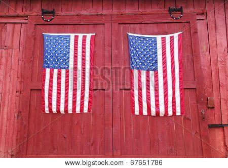 pair of american flags