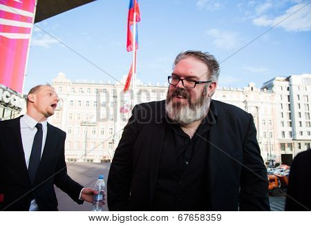 MOSCOW - JUNE, 19: Actor Kristian Nairn (Hodor, Game of Trones) 36th Moscow International Film Festival. Opening Ceremony at Pushkinsky Cinema . June 19, 2014 in Moscow, Russia