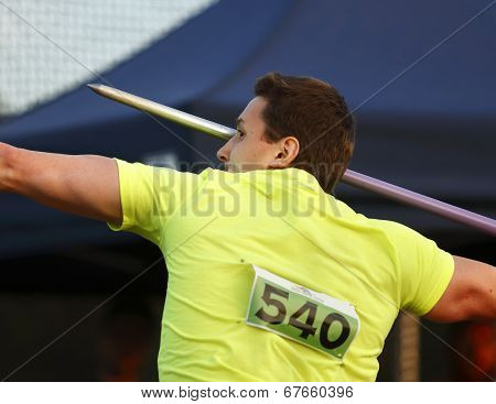 Javelin Throw Man Competitor