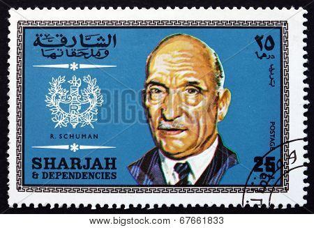 Postage Stamp Spain 1969 Robert Schuman, French Statesman