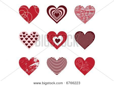 collection of heart elements