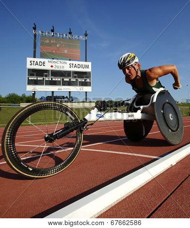 Wheelchair Track Athlete Woman