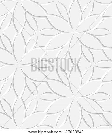 White Floral Perforated Seamless