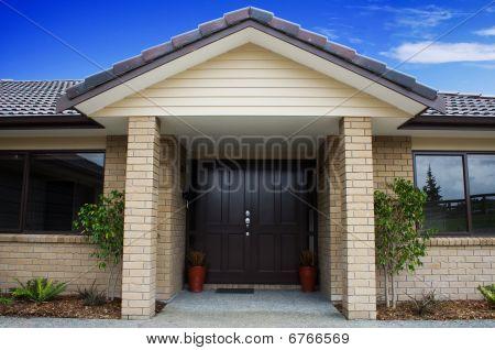 Modern House Front Entrance