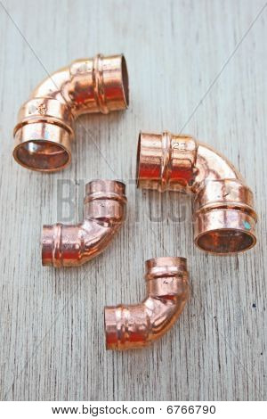 Copper pipe elbows