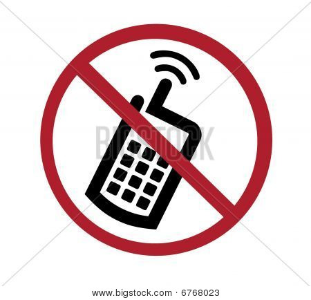Signe - aucun téléphone cellulaire