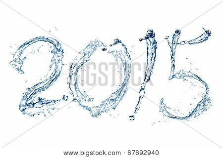 Happy New Year 2015 By Water Drop