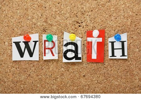 The word Wrath