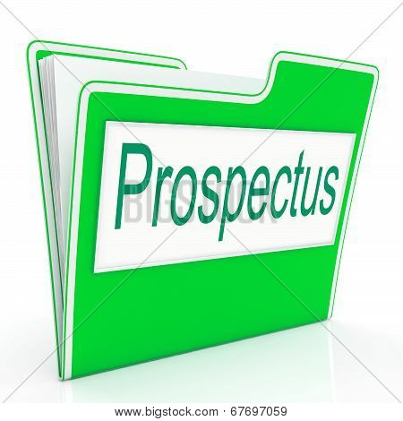 File Prospectus Shows Advertise Pamphlet And Describe