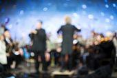 classical music concert, lens blur poster