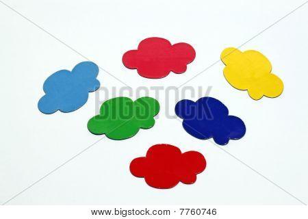 Coloured cloud bubble