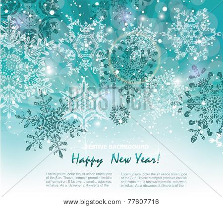 Silver Winter Abstract Christmas Background.