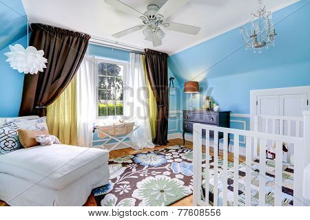 Bright Cheerful Nursery Room Interior