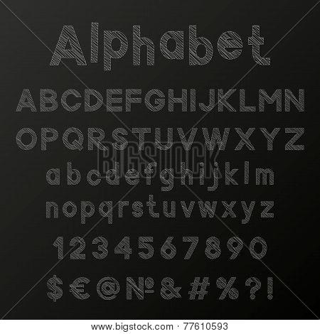 Decorative chulk alphabet